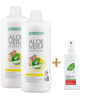 LR LIFETAKT Aloe Vera Feel Good Box Immune Plus 2 x 1l + Zdarma 1 x Aloe Vera Hydratační gelový koncentrát - 100 ml